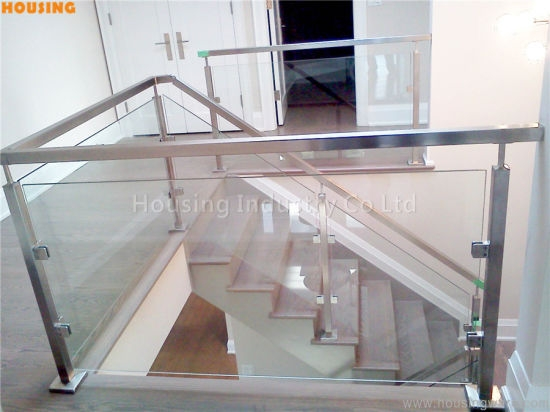 China Diy Glass Railing With Baluster For Balcony And Staircase   Diy Glass Stair Railing   Staircase Makeover   Modern Stair Parts   Floating Stairs   Loft Railing   Wood