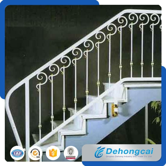 China Decorative Indoor Stair Railing Indoor Stair Rail Glass | Industrial Stair Railing Design | Industrial Style | All Metal Interior | Contemporary Metal | Small Stair | Detail Industrial