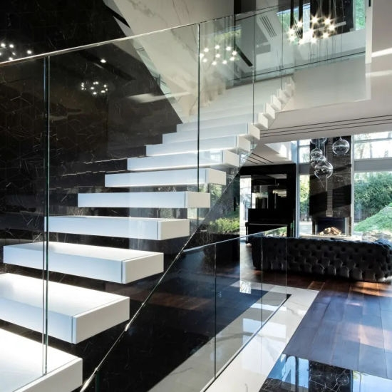 China New Design Modern Glass Stairs Glass Railing Staircase | Railing Of Stairs Design | Stainless | Wrought Iron | Ultra Modern Stair Grill | Stylish | Creative