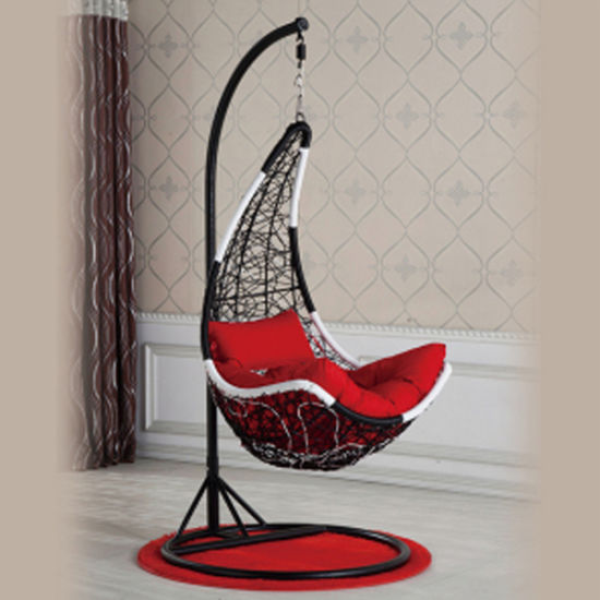 China High Quality Hanging Chair SGS PE Rattan   UV Resistant Fabric     High Quality Hanging Chair SGS PE Rattan   UV Resistant Fabric Cushion Swing  Chair