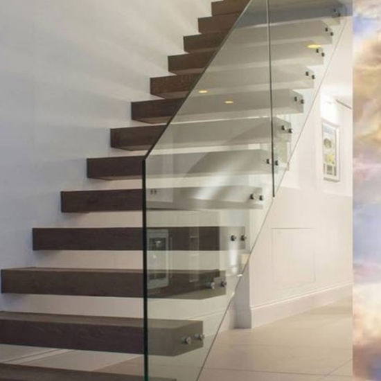 China 2020 Thailand Oak Wood Tread Modern Staircase Floating | Wooden Staircases For Sale | Cheap | Steel | Landing | House | New Model