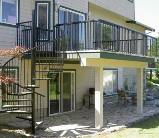 China Modern Outdoor Steel Staircase Design Galvanized Spiral | Modern Stairs Design Outdoor | Ultra Modern | Deck | Contemporary | Railing | Spiral