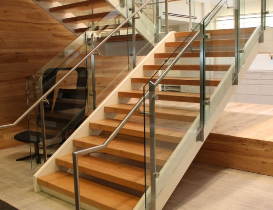 Australia Standard Glass Railing Mono Steel Stringers Straight | Wood Stringers For Stairs | Metal | Double Stringer | Stair Tread | Framing Square | Risers