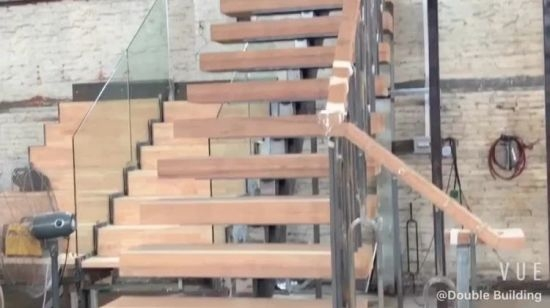 Wood Stair Design Stainless Steel Stairs China Stainless Steel | Stairs Made Of Wood | Pine | Staircase | Wood Plank | Hanging | Custom Made