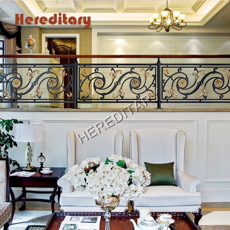 China Interior Luxury Aluminum Stair Railing Staircase Guardrail | Aluminum Stair Railings Interior | Wrought Iron | Iron Staircase | Cable | Outdoor | Handrail