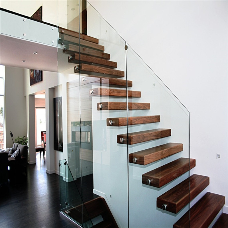 China Diy Prefabricated Floating Staircase With Safety Glass   Diy Glass Stair Railing   Cable Railing   Modern Stair Parts   Floating Staircase   Railing Ideas   Wood
