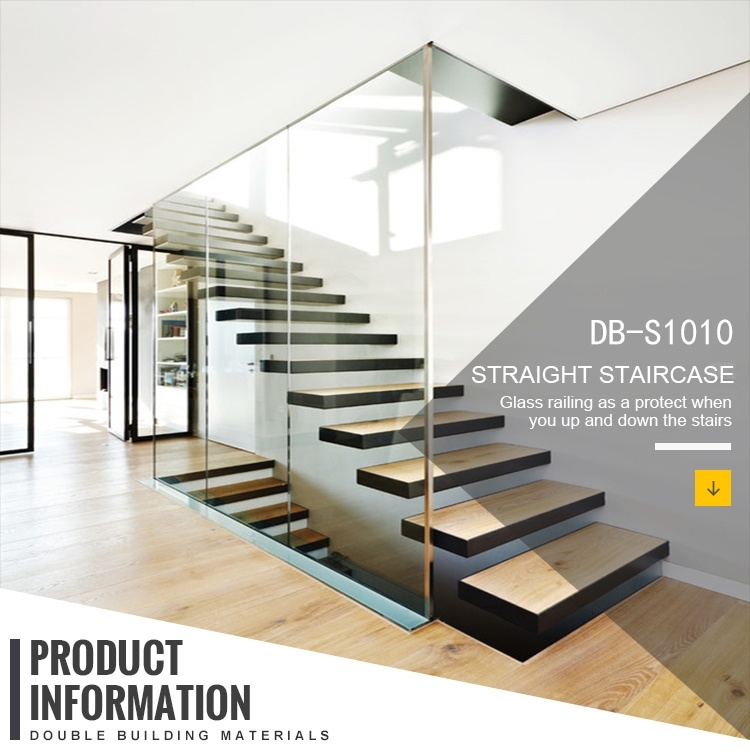 China Used Floating Wooden Staircase With Glass Railings China   Wooden Staircase With Glass   Oak   Glass Design Golden   Tempered Glass   Unusual Interior   Detail