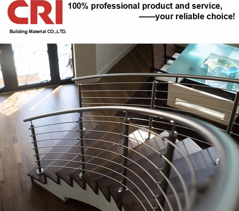 China Curved Stainless Steel Railing Modern Curved Staircase   Modern Stainless Steel Staircase Railing   Glass   Rectangle   Elegant   Modern Farmhouse   Hand