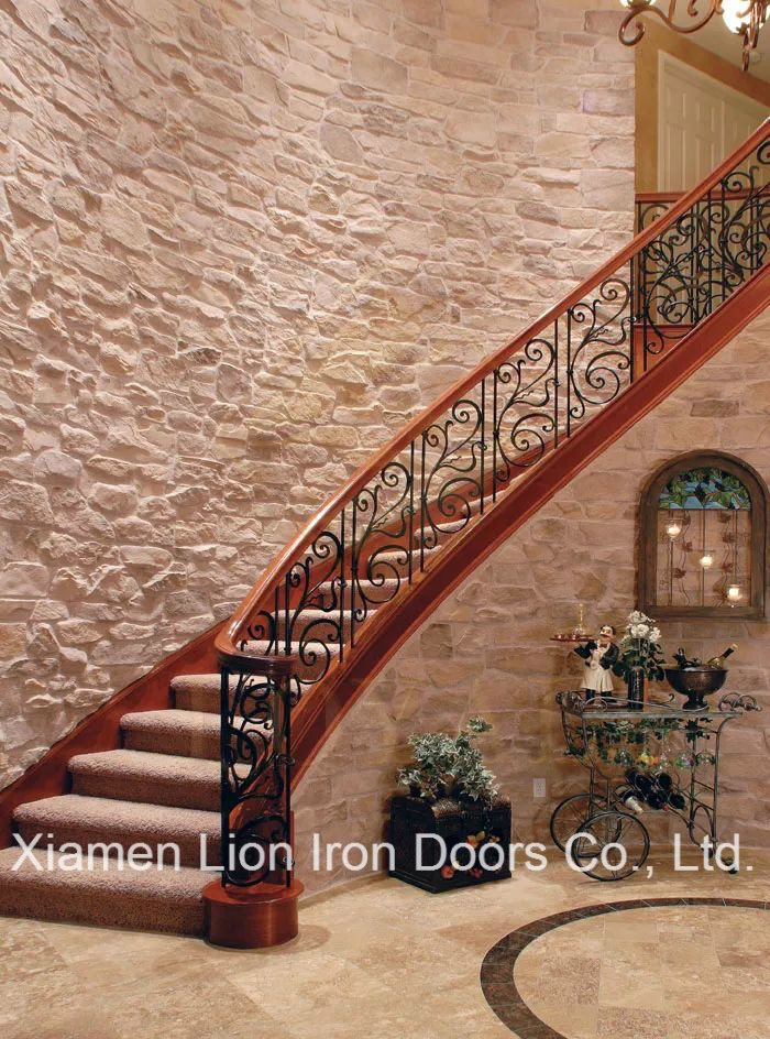China Exterior Handrail Lowes Wrought Iron Railing Stair Railing | Metal Handrails For Stairs Exterior | Outdoor Stair | Simplified Building | Porch | Deck Railing | Handrail Ideas