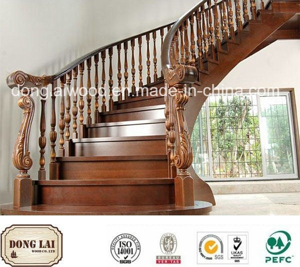 China Decoration Material Interior Antique Wooden Copper Stair | Antique Handrails For Stairs | Newel Posts | Wrought Iron Stair | Antique Wood | Antique Green | Wood