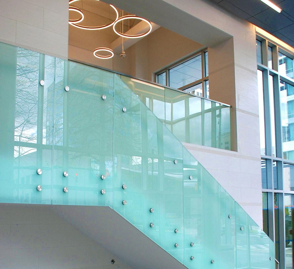 Best Quality Frosted Laminated Glass Stair Railing Design   Stainless Steel Staircase Railing With Glass   Infill   Custom Glass   Indoor   Panel   Modern