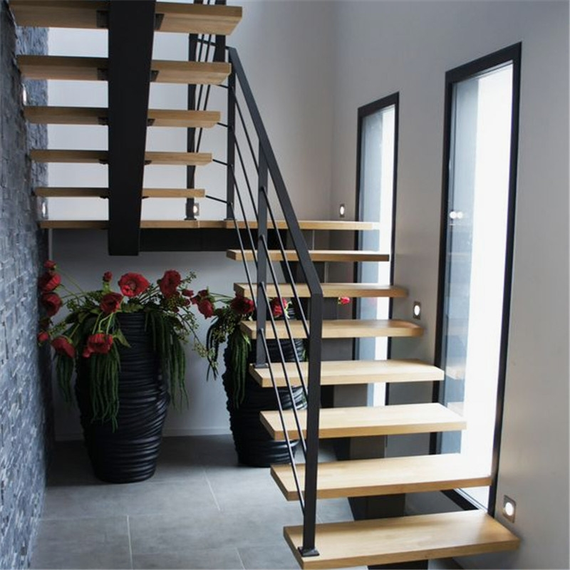 China Modern Design Straight Glass Staircase With Stainless Steel   Wood And Cable Stair Railing   Stairway   Wrought Iron   Staircase Railing   White   Vertical