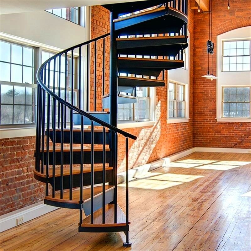 China Outdoor Galvanizing Steel Spiral Staircase Metal Wrought   Iron Stairs Design Outdoor   Deck   Modern   Custom Canada Staircase Home   Creative   Simple