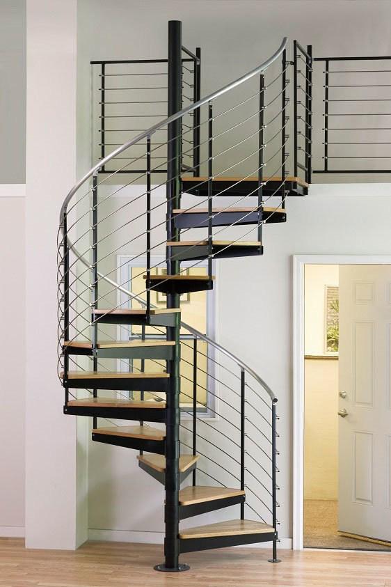 China Wrong Iron Modular Glass Spiral Staircase Spiral Staircase | Diy Outdoor Spiral Staircase | Small Space | Before And After | Backyard | Half Circle | Metal