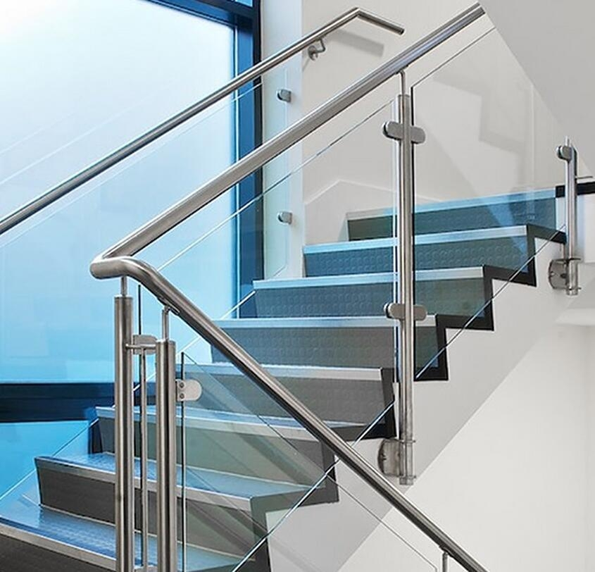 China Indoor And Outdoor 304 316 Stainless Steel Glass Stair | Stainless Steel And Glass Staircase | Residential | New Fashion Glass | Architectural Glass | Galvanized Steel | High End Glass