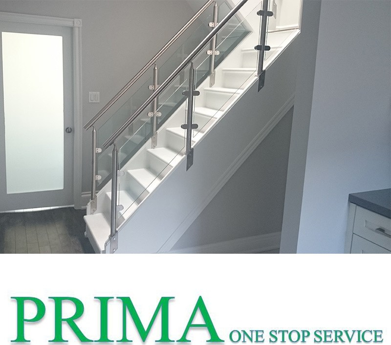 China Professional Design Stainless Steel Railing Design Staircase | Staircase Steel Railing Designs With Glass | Glass Panel Wooden Handrail | Modern Style | Stair Glass Void | Curved | Metal