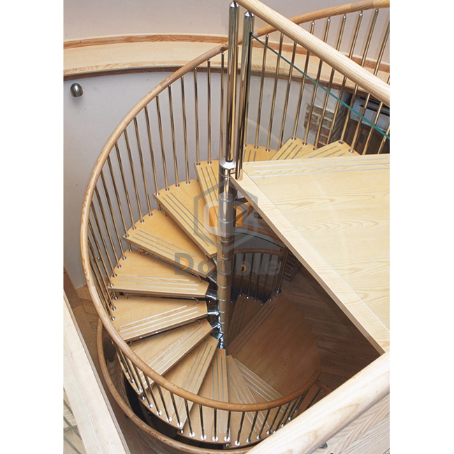 China Wood Steps Wrought Iron Stairs Interior Spiral Staircase | Spiral Staircase Wooden Steps | Tiny House | Wrought Iron | Rustic | Creative | 2 Story
