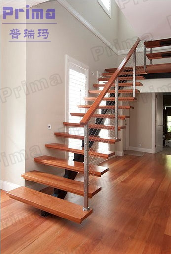 China Modern Stainless Steel Railing Wooden Staircase Design   Steel And Wood Staircase Design   Inside   Outdoor   Detail   Wooden   Metal