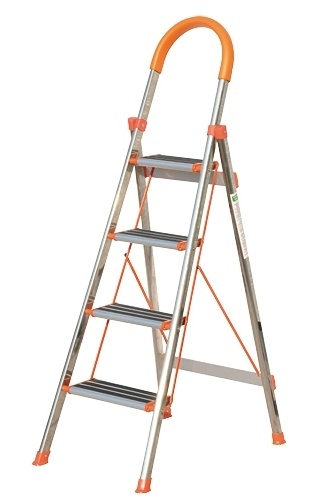 China Good Quality Portable Stainless Steel Household Ladder 4   Portable Steps With Handrail   3 Step   Free Standing   Camper   Stair   Safety Step Ladder 4 Step