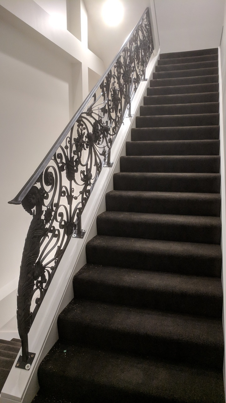 China Indoor Wrought Iron Stair Railing Interior Staircase   Wrought Iron Stair Railing   Diy   Staircase   Simple   Silver   Horizontal