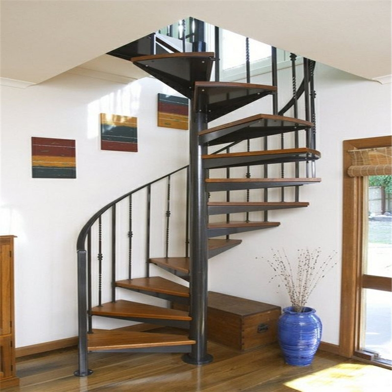 China Prefabricated New Design Interior Stainless Steel Spiral | Painting Metal Spiral Staircase | Handrail | Iron | Stair Treads | Steel | Staircase Kit