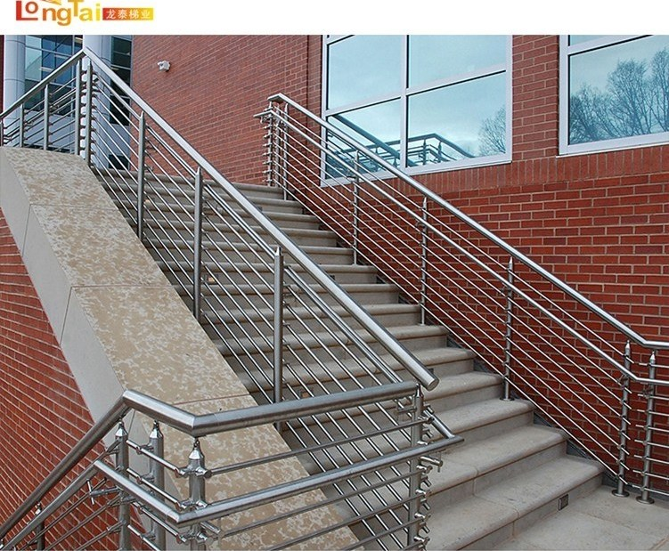 China Safe Outdoor Stair Soild Rod Balustrade System Handrail | Metal Handrails For Outdoor Steps | Hand | Front Porch Stair Railing | Outside | Patio | Gas Pipe