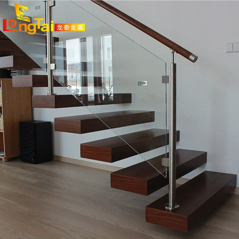 China Stainless Steel Indoor Tempered Glass Handrail Stair Railing   Ss Handrails For Stairs   Building   Glass   Horizontal   Flat Steel   Mild Steel Handrail