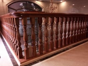 China Pure Natural Produced In Burma Teak Wood Railing China   Hardwood Handrails For Stairs   Brown   Outdoor   Stairway   Light Wood   Colour Stair Painted Stair Railing