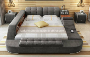 China Modern Bedroom Furniture Functional Fabric Futon Bed   China     Modern Bedroom Furniture Functional Fabric Futon Bed