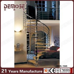 China Steel Balustrade Wood Space Saving Spiral Stairs Dms 1045   Space Saving Spiral Staircase   Child Friendly   Do It Yourself Diy   Metal   Duplex House   Loft