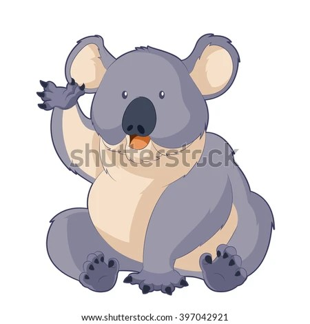 Cartoon Smiling Koala Stock Vector Illustration 397042921 ...