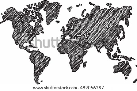 World map sketch vector 4k pictures 4k pictures full hq wallpaper a scribbled blue world map ideal for your presentations websites world map sketched royalty free stock vector art sketch world map vectors download free freerunsca Image collections