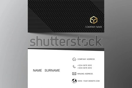 Two Sided Business Card Vector Design   Download Free Vector Art     White and black business card template design  With inspiration from the  abstract  Two sided