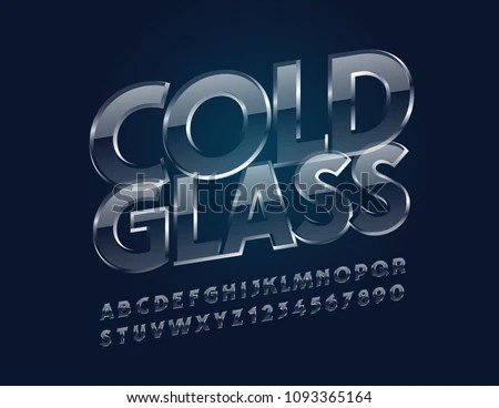 Ice Font   Download Free Vector Art  Stock Graphics   Images Vector transparent Cold Glass Font  Glossy Ice Alphabet Letters  Numbers  and Symbols
