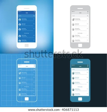 Royalty free Mobile Wireframe App Ui KIt 21  User     311245691 Stock     Mobile wireframe app ui kit  Inbix email screen   406871113