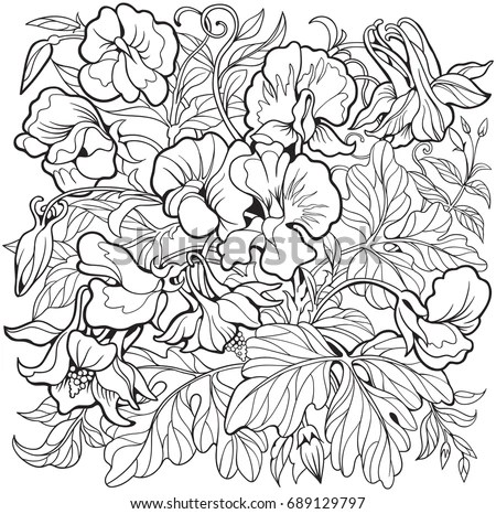 sweet pea coloring pages # 7