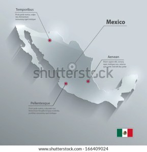 Mexico Map Vector   Download Free Vector Art  Stock Graphics   Images Mexico map flag glass card paper 3D vector