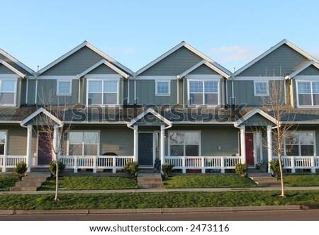 Adjoining Houses Stock Photo 2473116 : Shutterstock