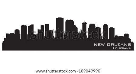 New Orleans, Louisiana Skyline. Detailed Vector Silhouette ...