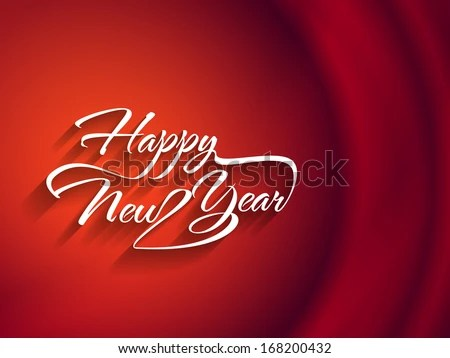 happy new year 2018 background text effect   Download Free Vector     Beautiful elegant text design of happy new year on red color background   vector illustration