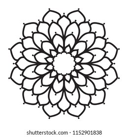 easy mandala coloring pages # 11