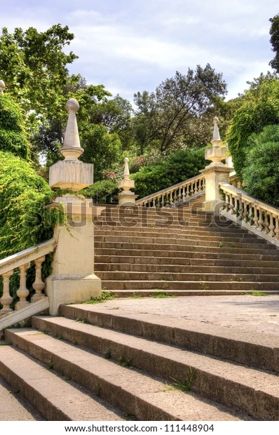 Angled Staircase Angled Staircase Outdoor Garden Stock Photo Edit | Outdoor Garden Under Stairs | Small | Crosstie | Gardening | Landscaping | Lawn