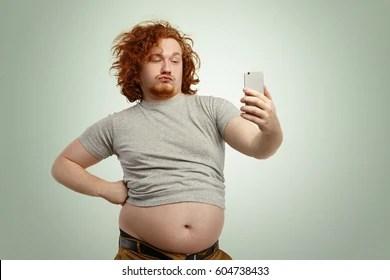 Image of: Meme Funny Overweight Plump Man With Duck Lips Wearing Undersize Tshirt With Belly Hanging Out One Week In Funny Afbeeldingen Stockfotos En Vectoren Shutterstock