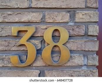 number 38 # 34