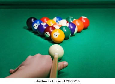 Pool Game Images  Stock Photos   Vectors   Shutterstock Pool game balls against a green
