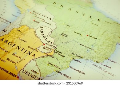 South America Map Images  Stock Photos   Vectors   Shutterstock South America map  Geographical view altered on colors perspective and  focus on the edge