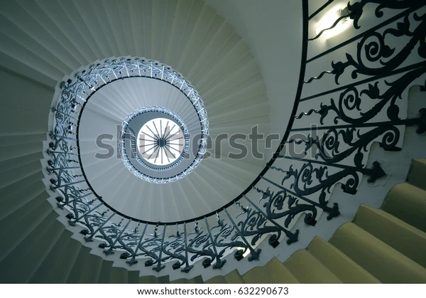 Sweeping Tulip Stairs One Original Features Stock Photo Edit Now   Self Supporting Spiral Staircase   Staircase Design   London Uk   Stair Case   Santa Fe   Risers