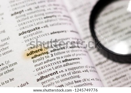 Word Phrase Adhere Dictionary Stock Photo (Edit Now) 1245749776
