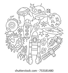 space coloring page # 18