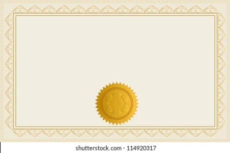 Blank Certificate Images  Stock Photos   Vectors   Shutterstock Blank Certificate Template  Jpeg Version Also Available In Gallery